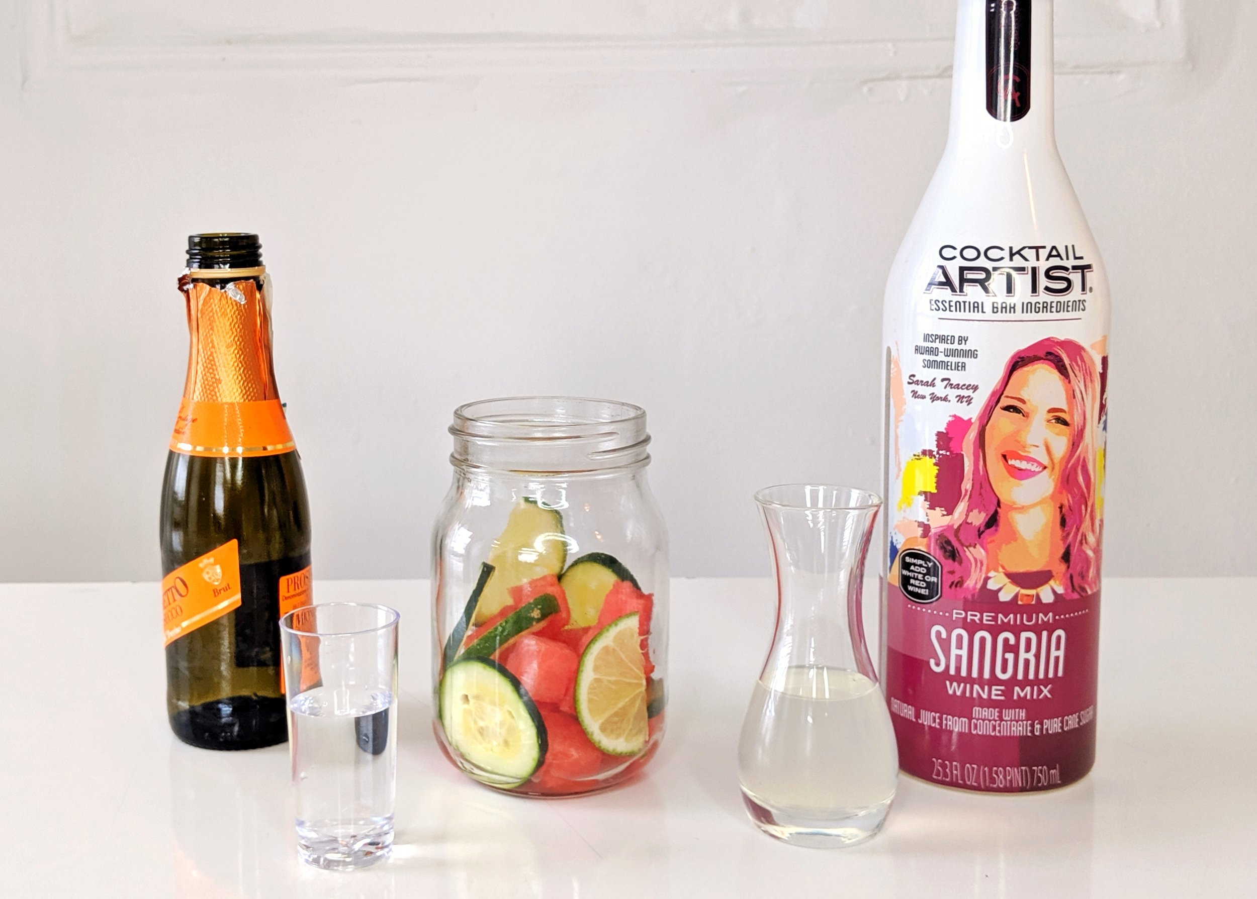Cocktail Artist Premium Sangria Wine Mix makes a perfect Cucumber Watermelon Sparkling Sangria