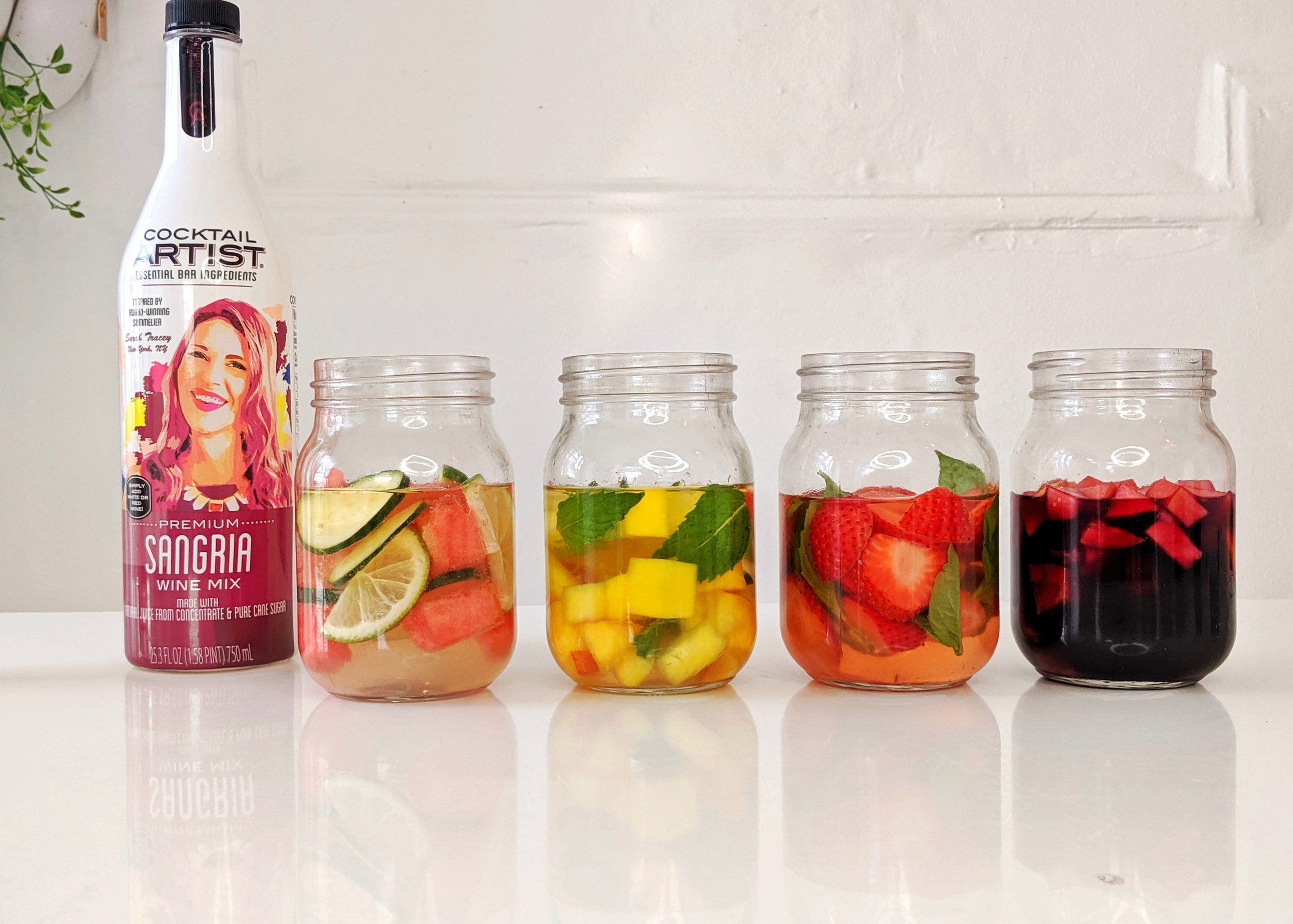Sangria 4 Ways is easy with Cocktail Artist Premium Sangria Wine Mix!