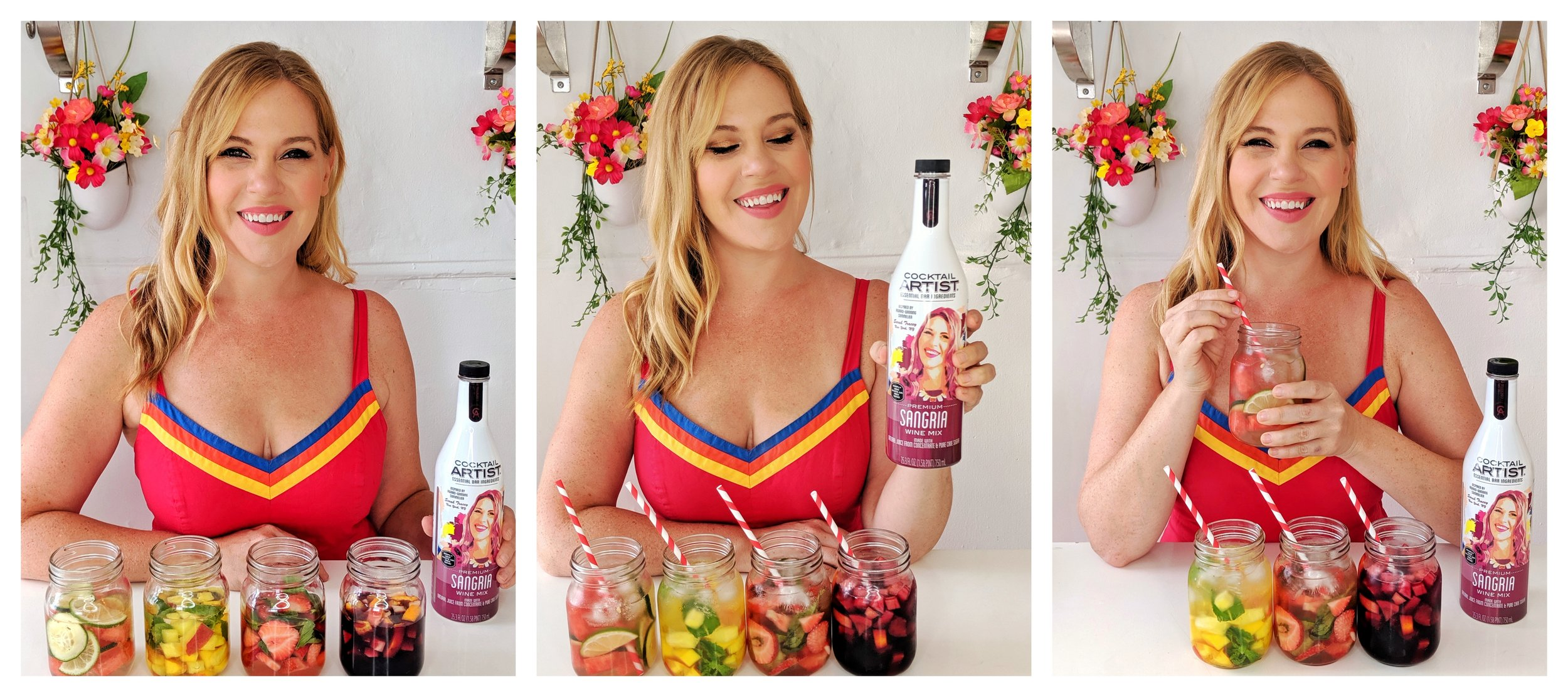 Sommelier Sarah Tracey creates sangria recipes 4 ways with Cocktail Artist Premium Sangria Wine Mix