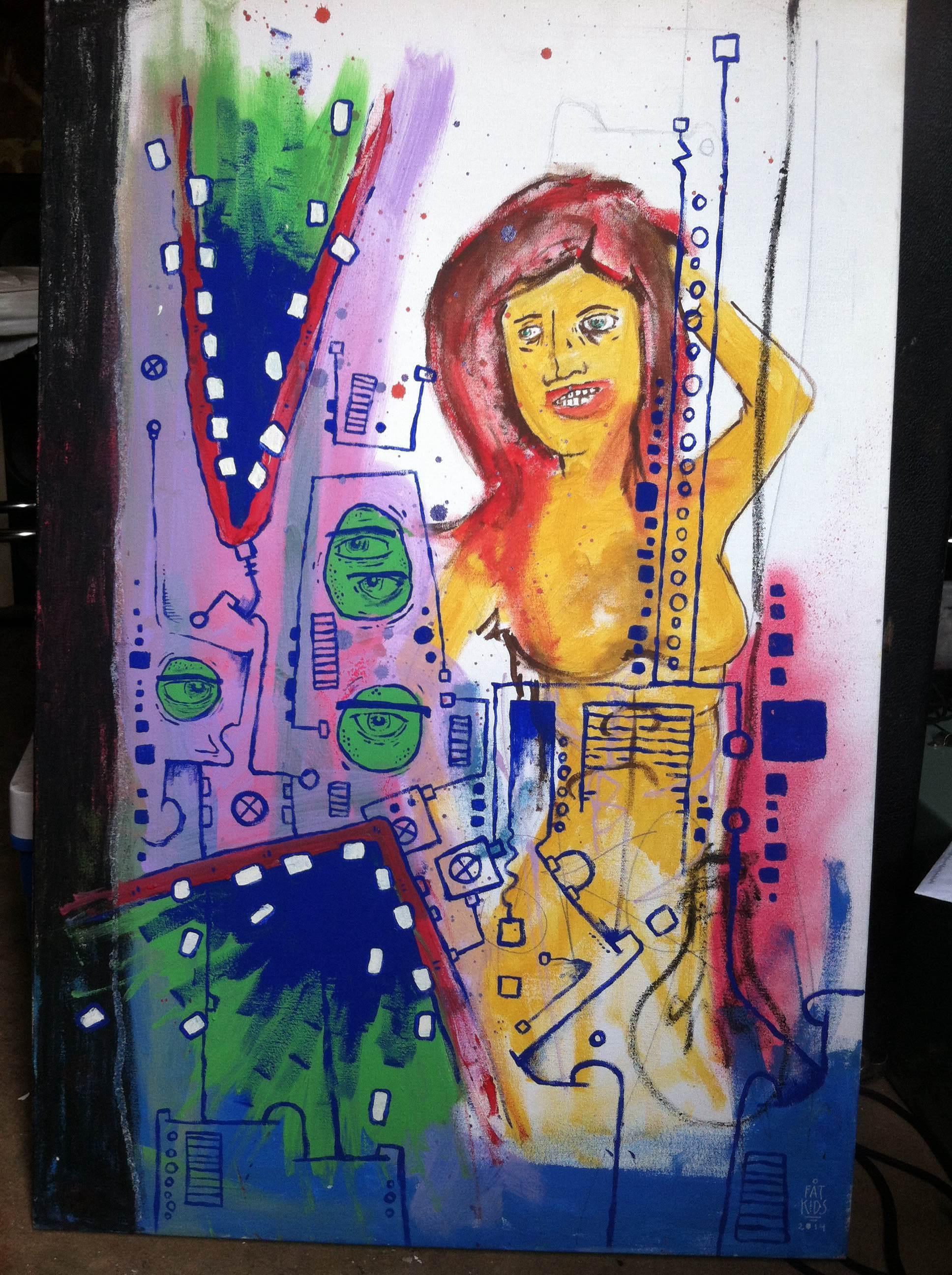 Mixed Media on Cardboard, 2013