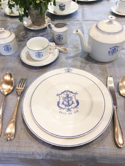 Soubiran- luxury-yacht wedding-caviar dishes- porcelain-dinnerware