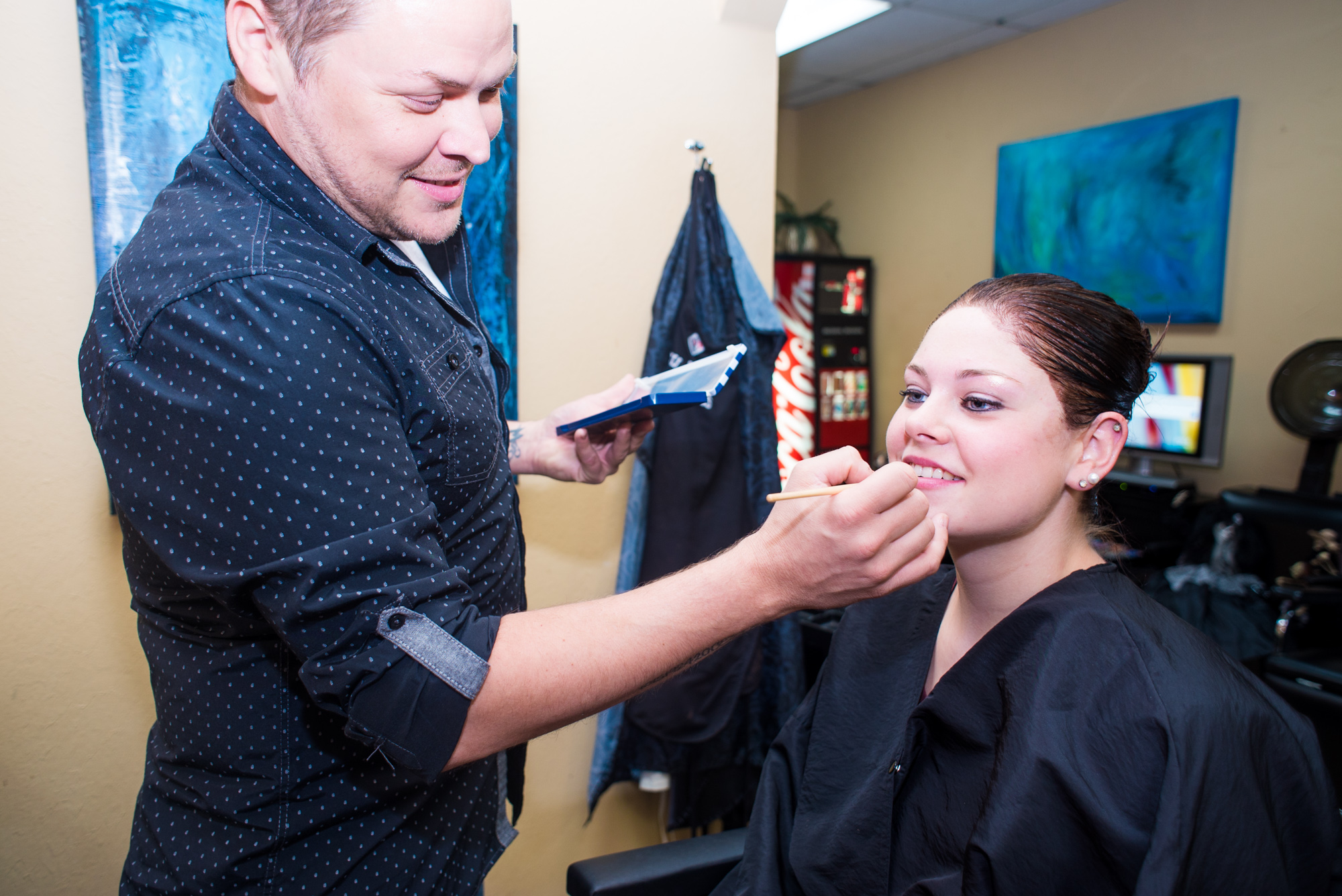 Make-up application for special occasions and weddings