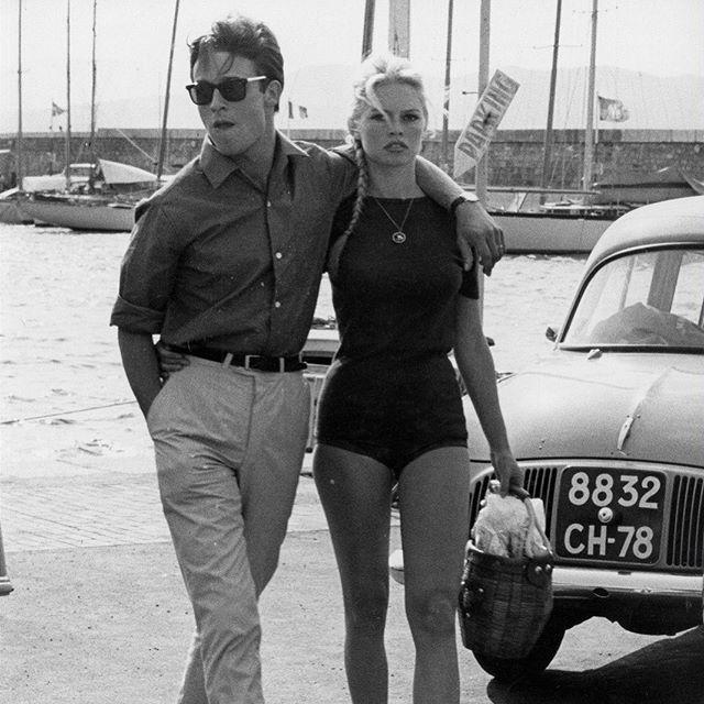 Inspiration ✔️ #iwearbaas . French actors B.Bardot Et A.Delon in #sttropez . . . . #inspiration #sunglasses #menstyle #womenstyle #mensfastion #menwithclass #lifestyle #couplegoals #summer #sun #saturday #goodvibes #free #begood #miki #ibiza #mykonos #steampunk #steampunksunglasses  #vintage #freeshipping #worldwideshipping #weekensvibes