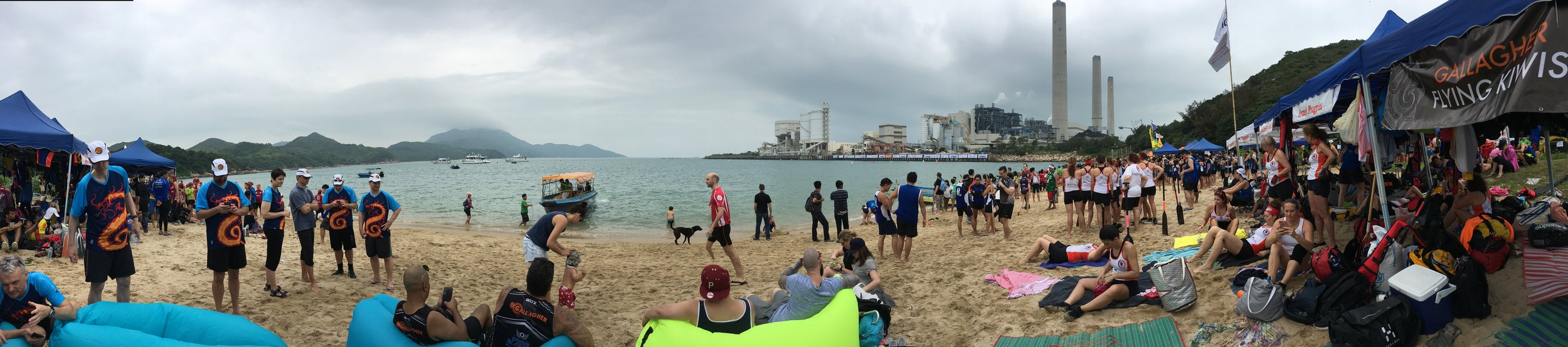 Lamma Island - Beautiful beach and power plant