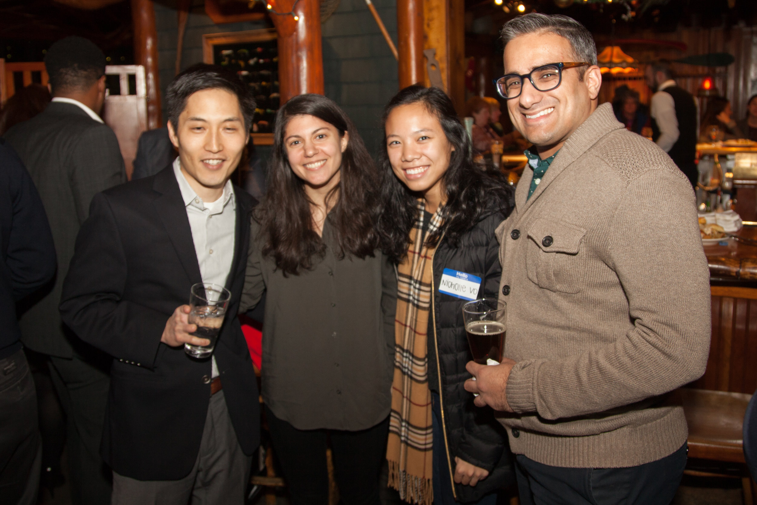 APABA MD Future Leaders: Kyle Deuchant and friend, Nicolle Vo, APALSA UMD Student Liason to APABA MD, and Vishal Hemmani; taking a break from their legal studies.