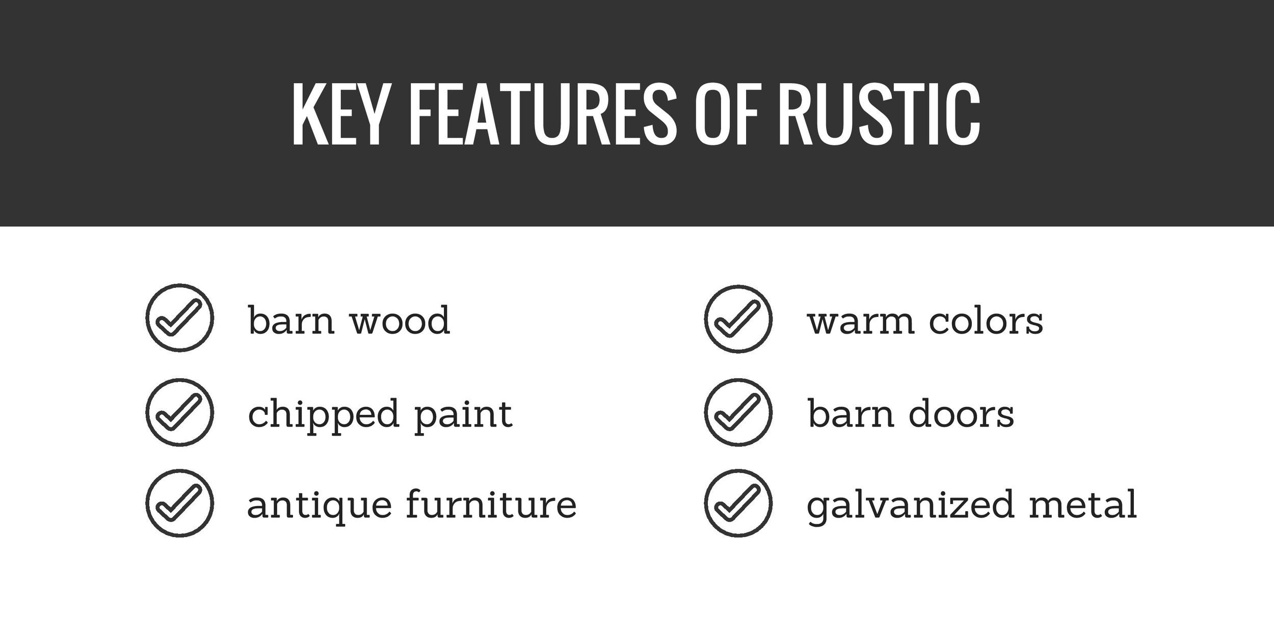 key features of rustic