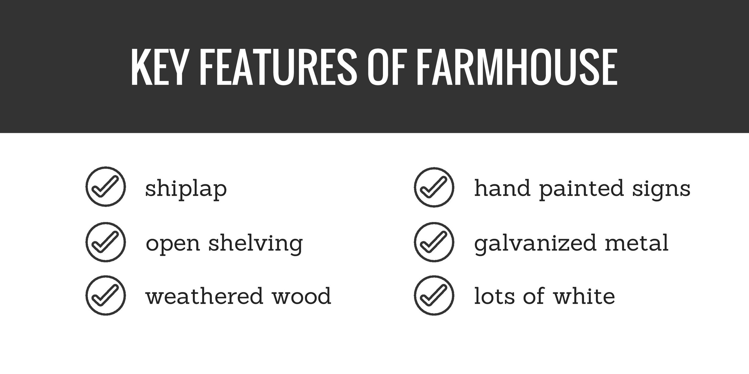 key features of farmhouse