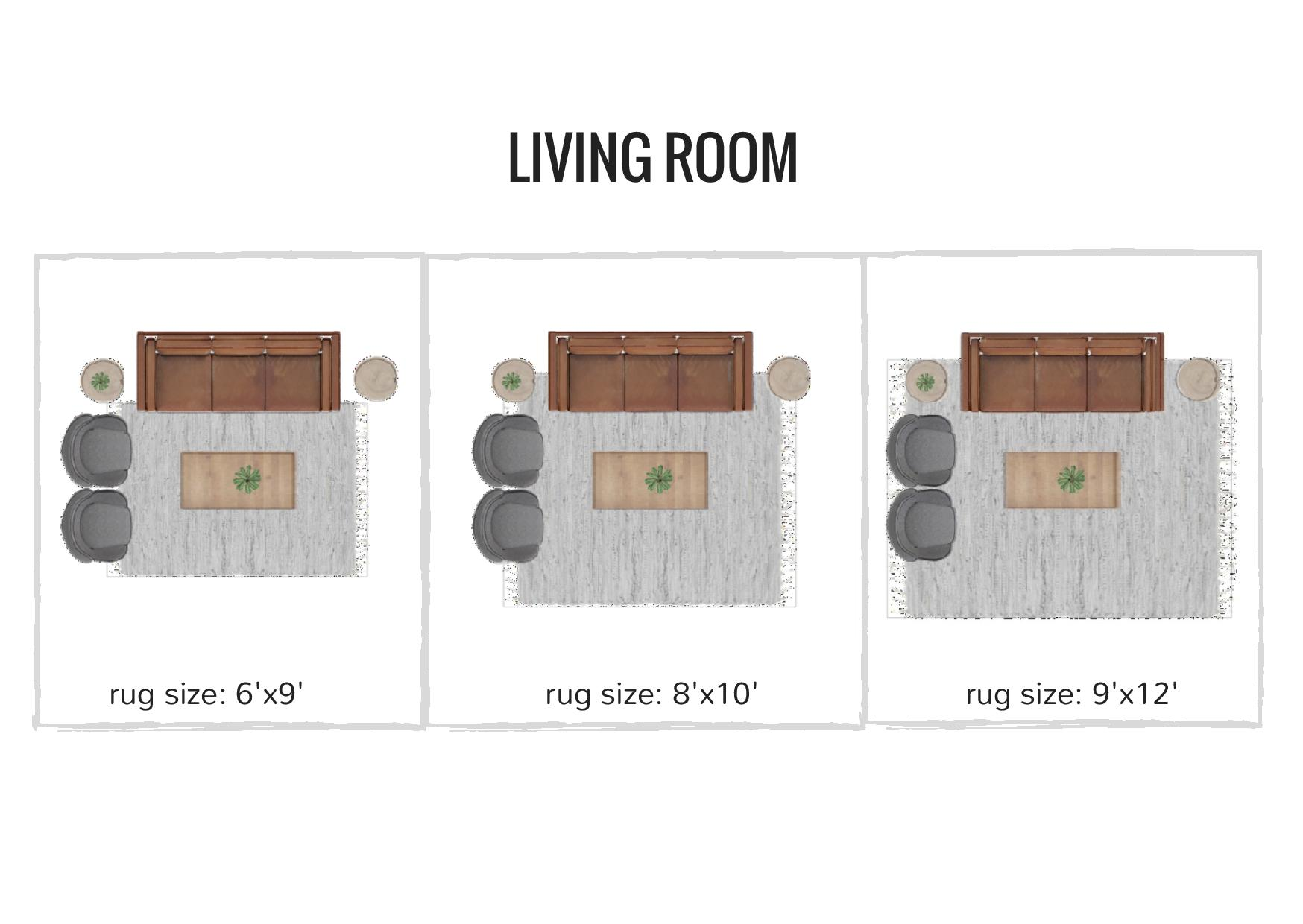 rug sizing and placement guide - what size rug do you need for your living room