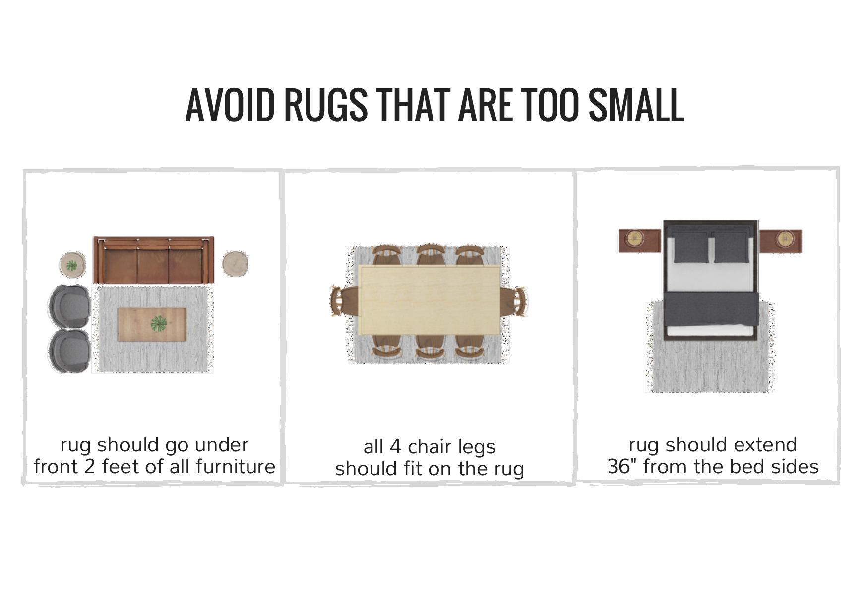 rug sizing and placement guide - common mistakes people make with rug size