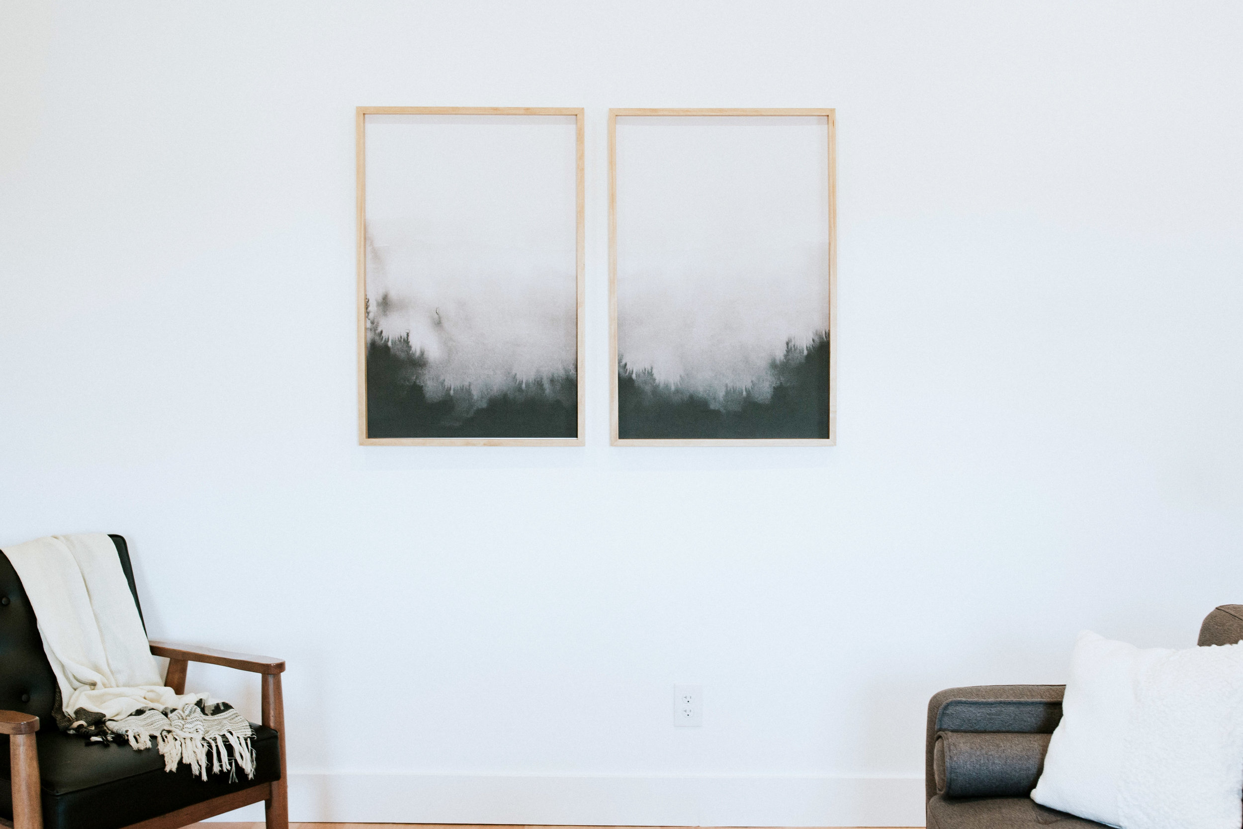 DIY modern frame and abstract art - how to make your own frame