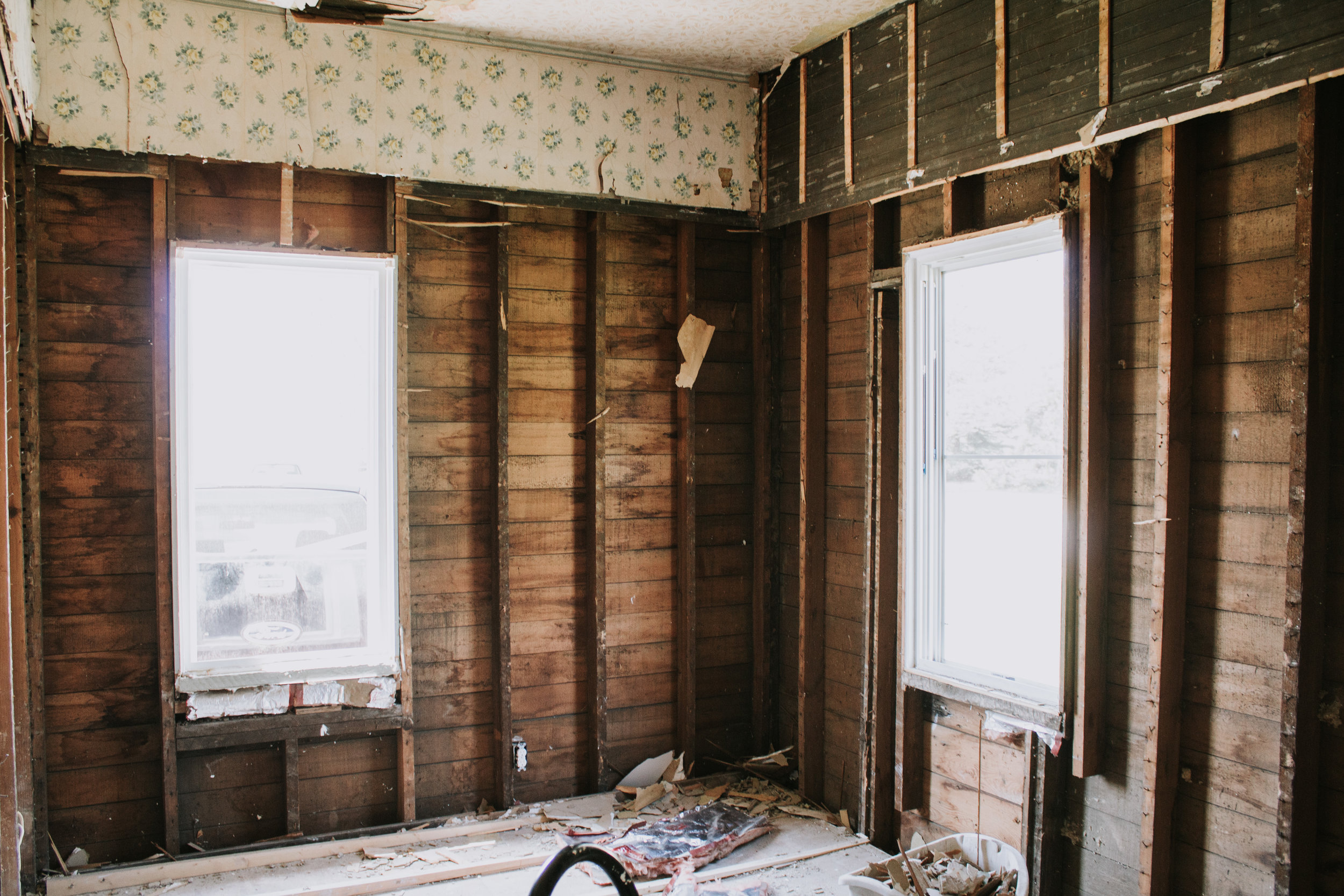 Update on our guest room renovation - the massive remodel has begun