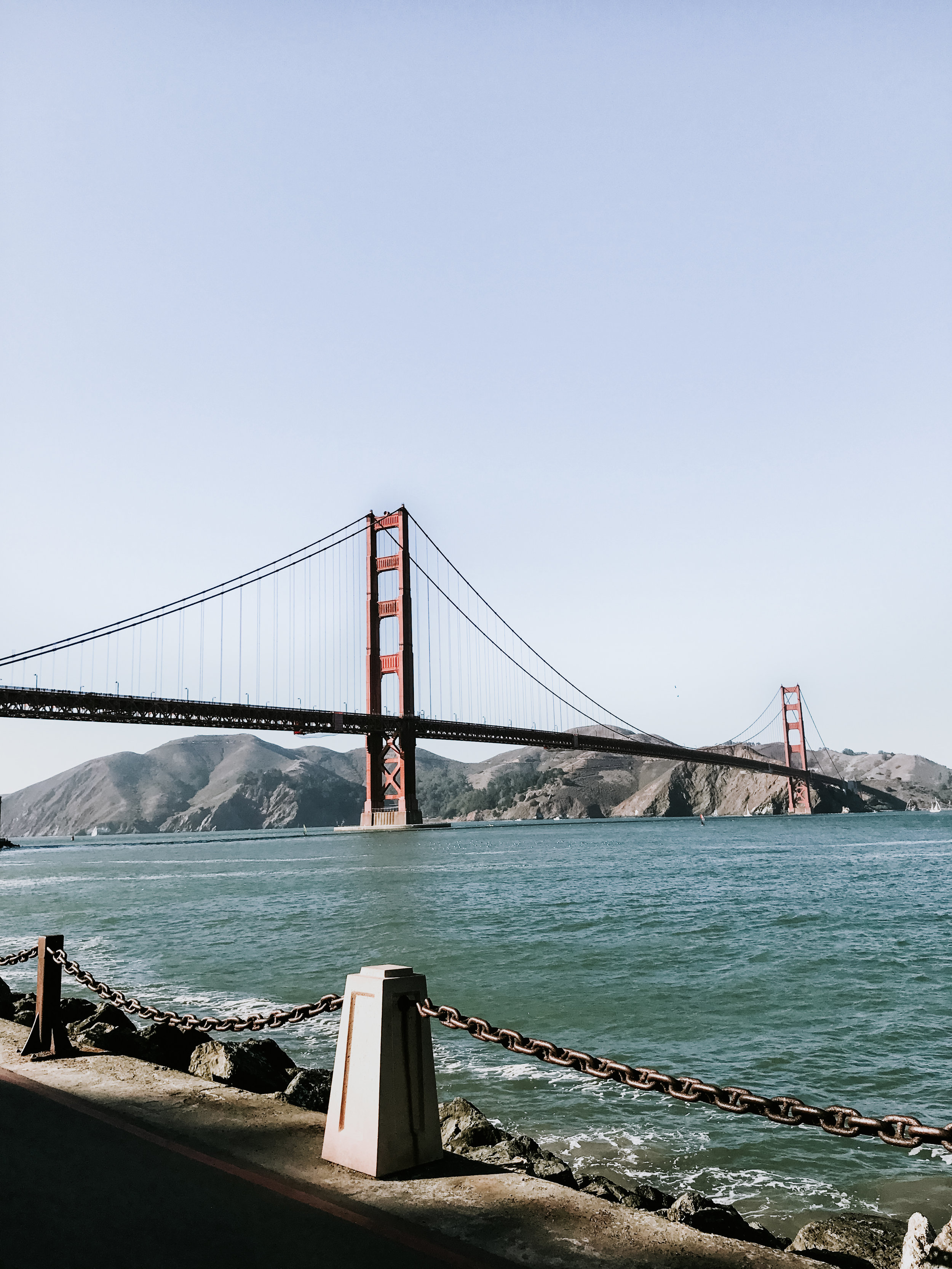our trip to San Francisco - viewing the golden gate bridge