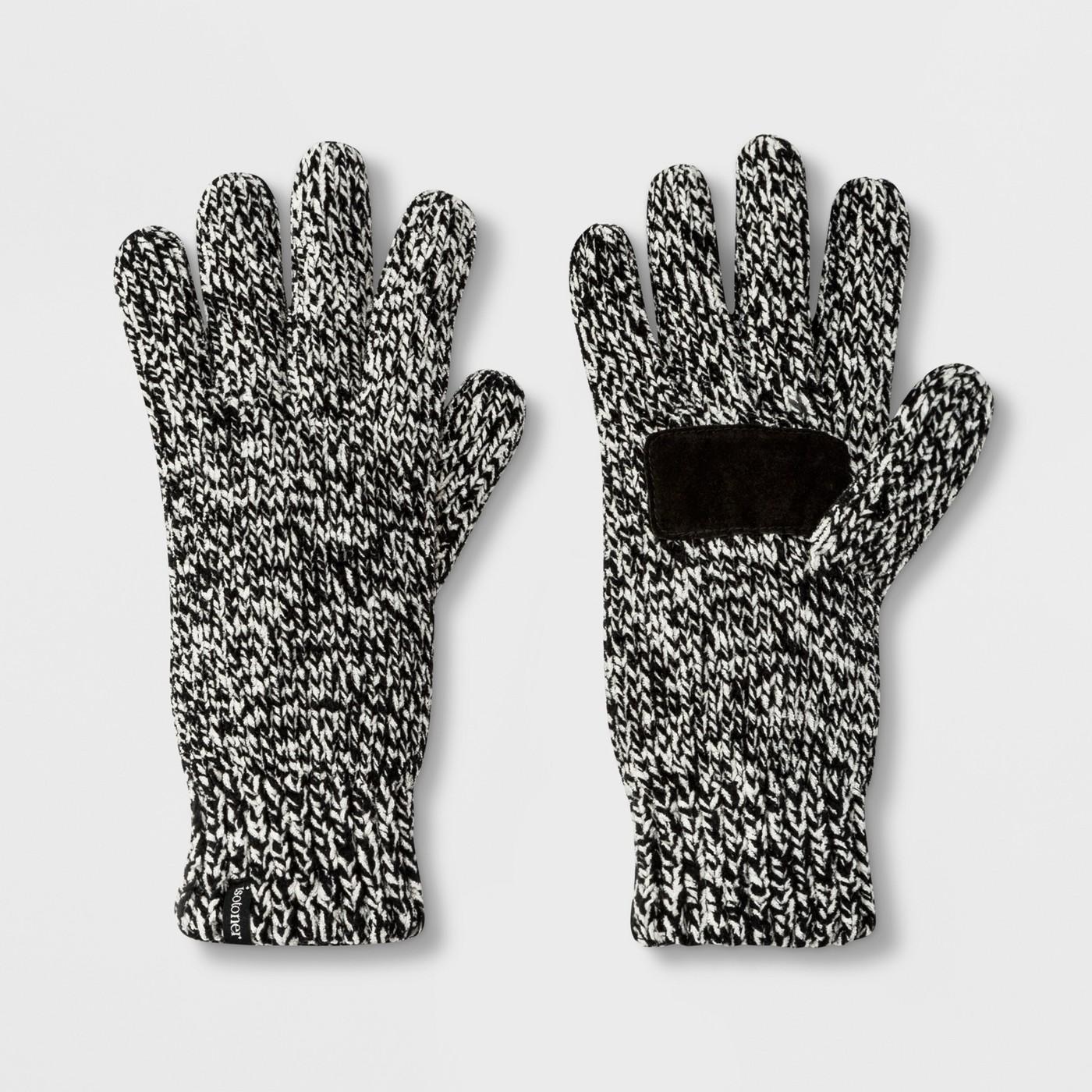 Black + White Gloves