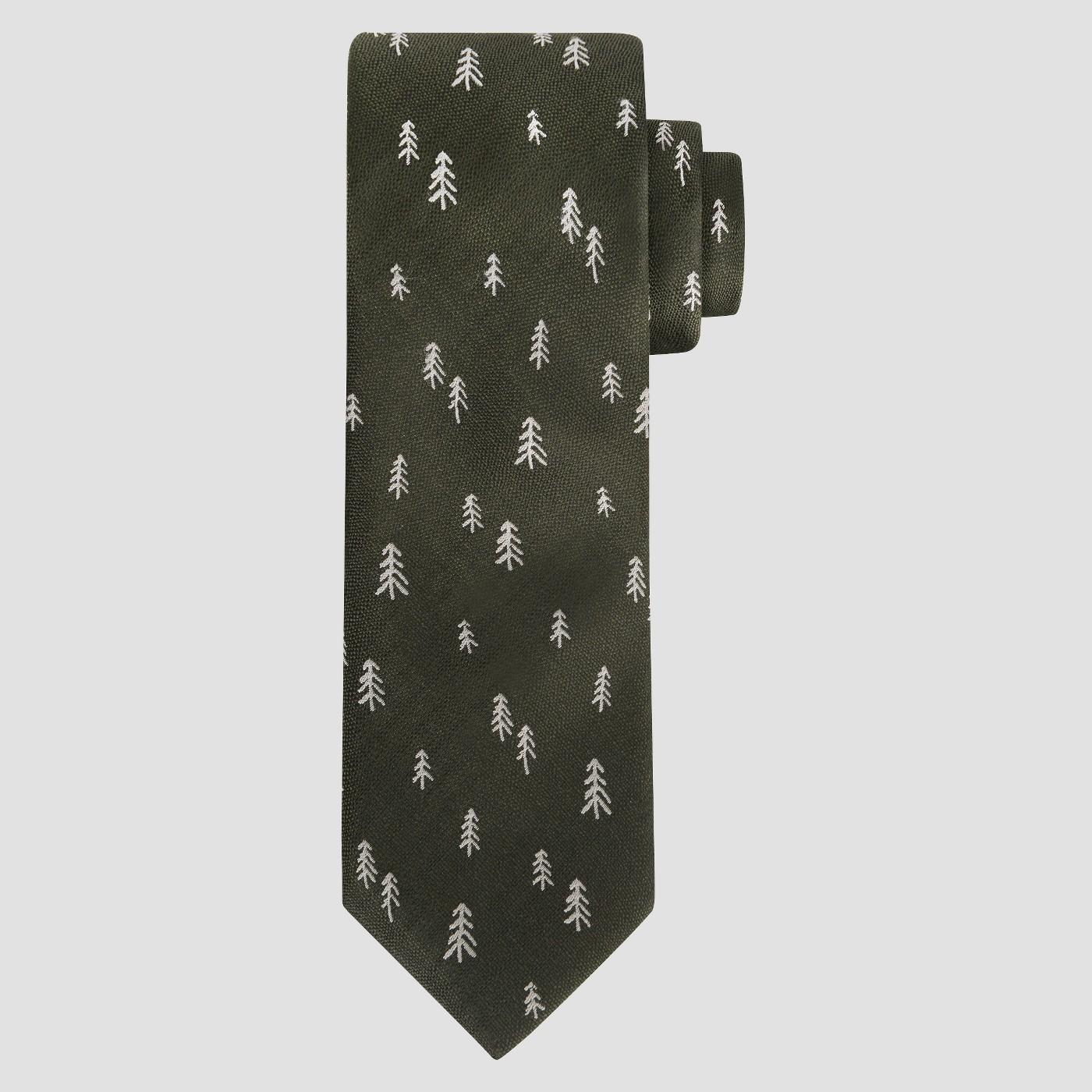 Green Cedar Tree Tie