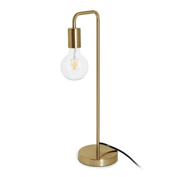 The High/Low List by Nadine Stay - Featuring Brass Accents. High end pieces and their (cheaper) twins. Brass home decor, furniture, and accessories. Brass arched table lamp from Article.