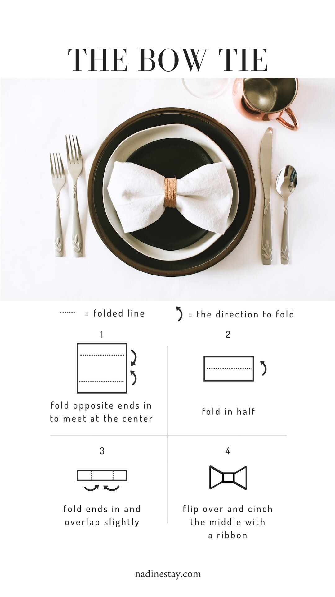 5 Ways To Fold A Napkin Nadine Stay