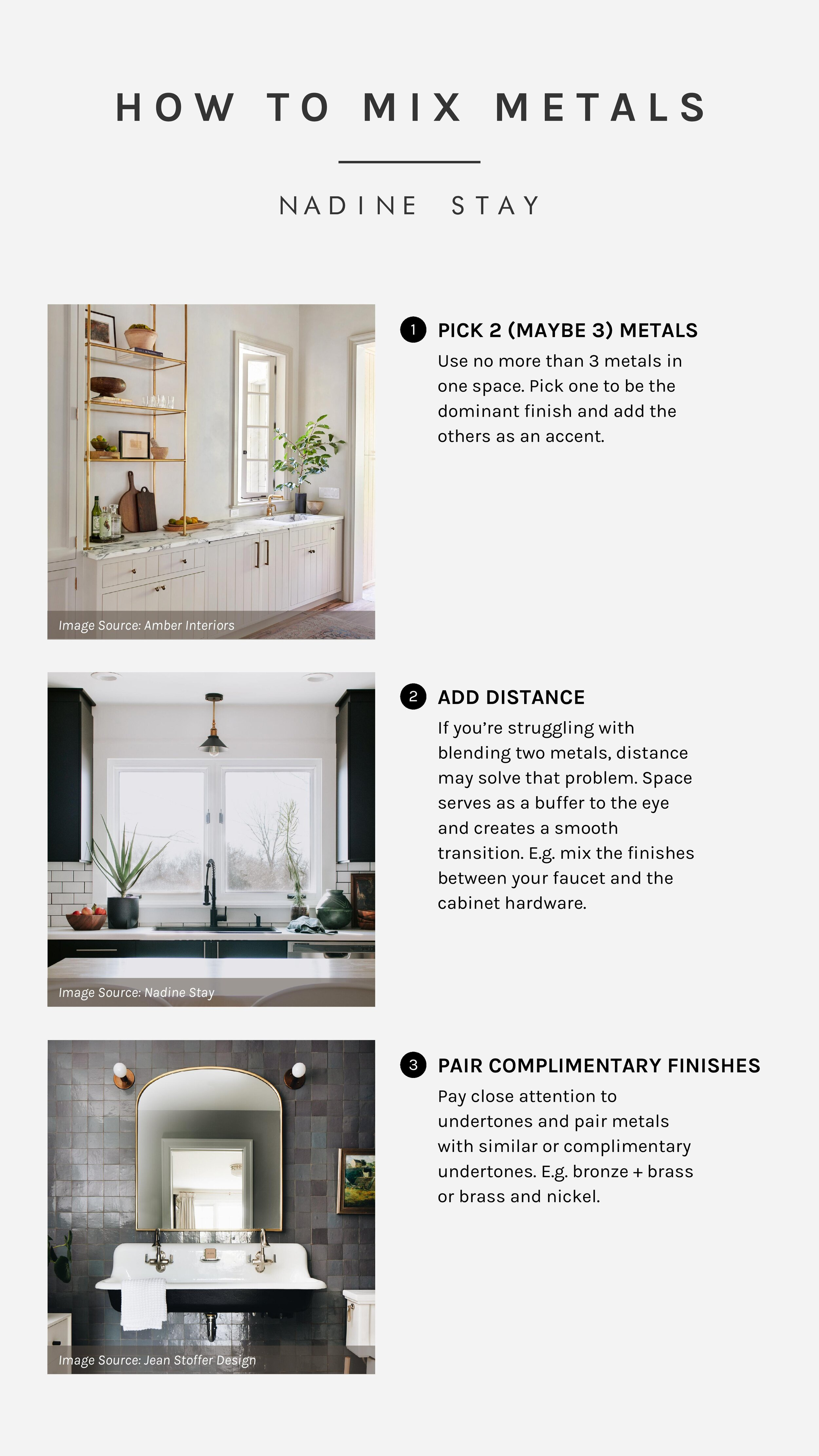 Reader Q How To Mix Metal Finishes In A Bathroom Or Kitchen Nadine Stay