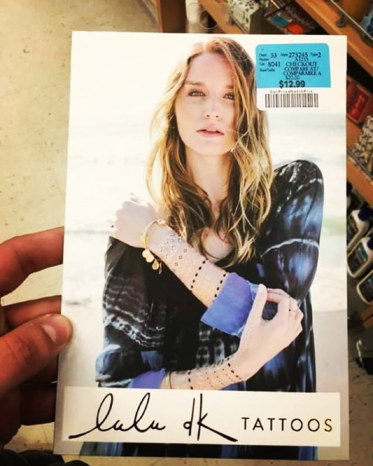 Feeling #tgif ? Stick on some #flashtattoos @luludk_tattoos #twomodelsdo shoot for their campaigns ;) thanks Kyle for spotting me in the store! @brand_models
