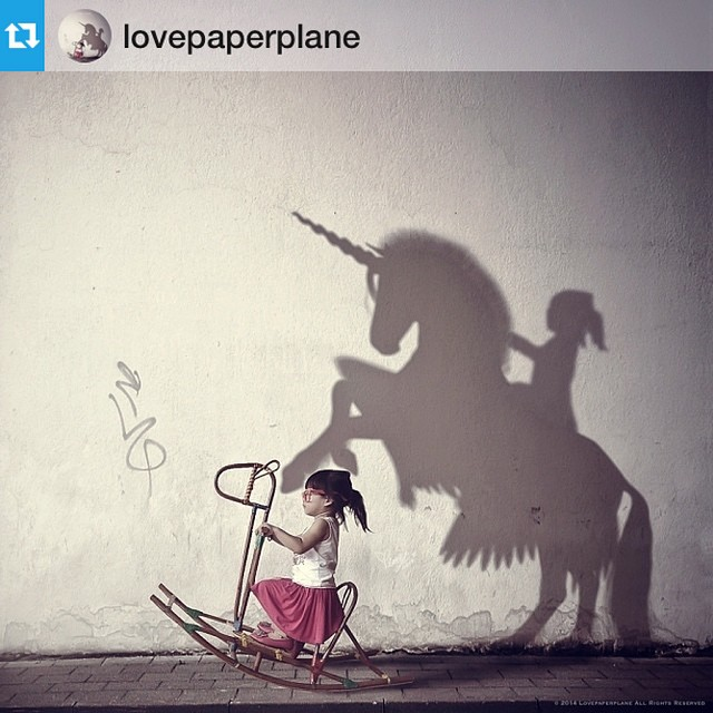 #Repost from @lovepaperplane her #work is so #inspiring remember that child inside of you and her daring to #dream #love #unicorns #fairies #heart