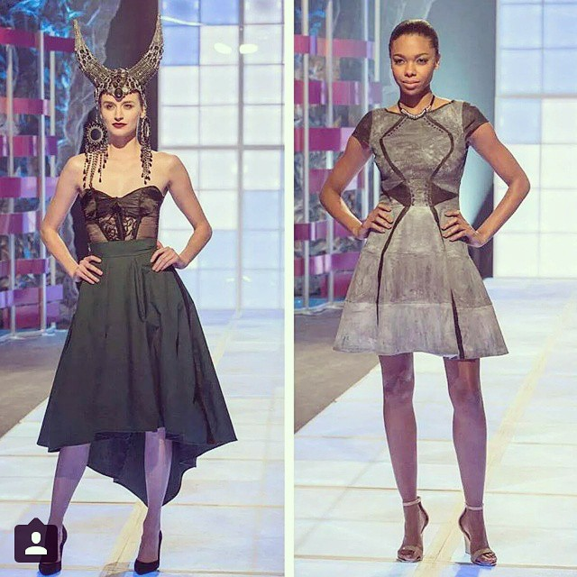 @taleshabyrd & @thebriannabarnes up on a …. #runway…. t.h.r.e.a.d.s first comes #love then comes #fashion then comes a #baby #designer on a #projectrunway #spinoff … Ok I tried too hard with this one.