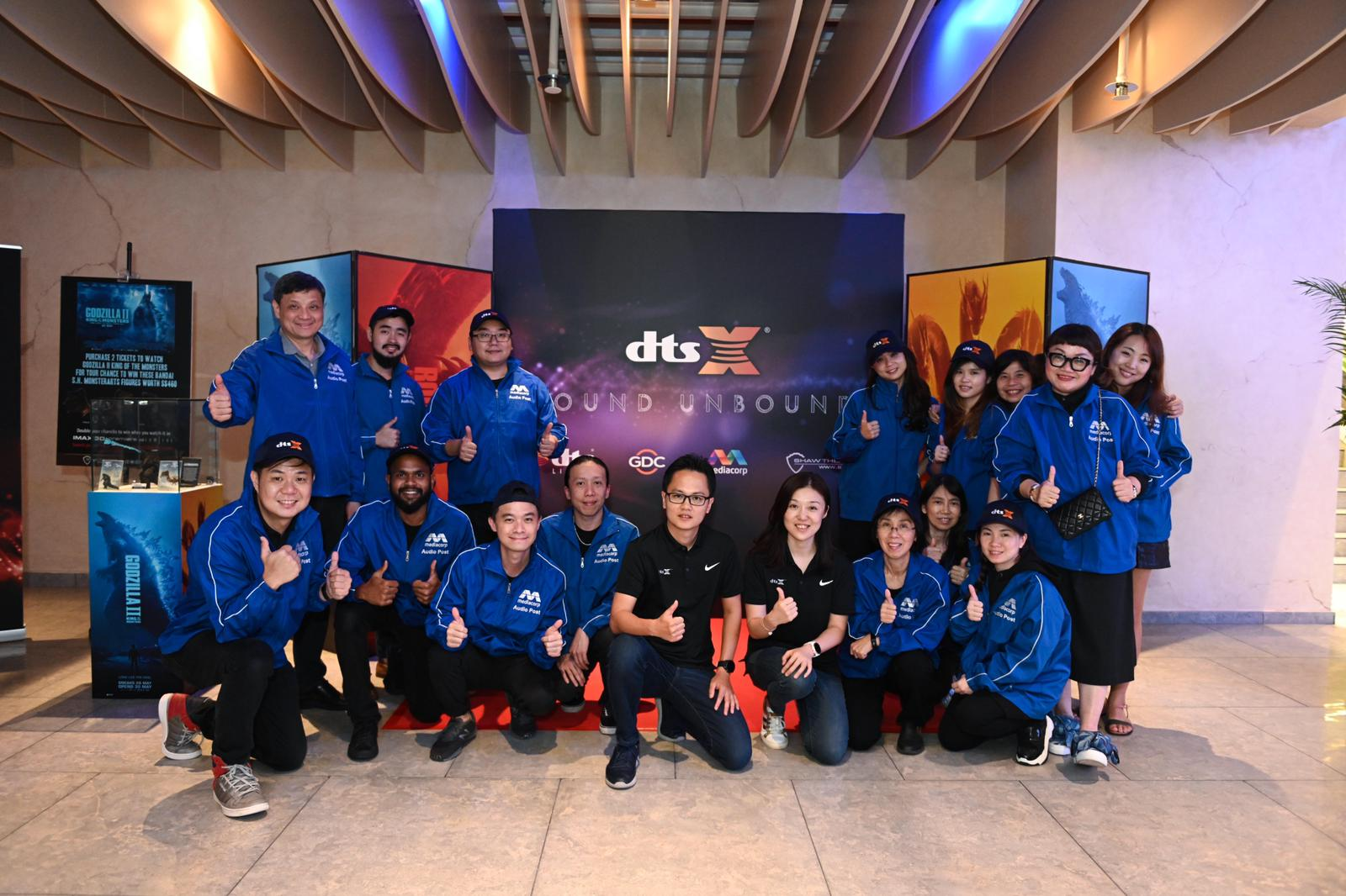 DTS and team of Mediacorp Audio Post.