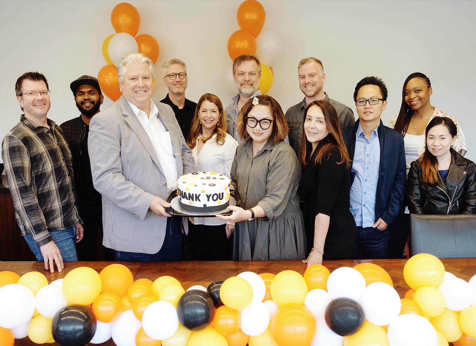 Bill Neighbors, Senior Vice President and General Manager of Content at DTS (3rd from left) welcome Mediacorp Audio Post team .