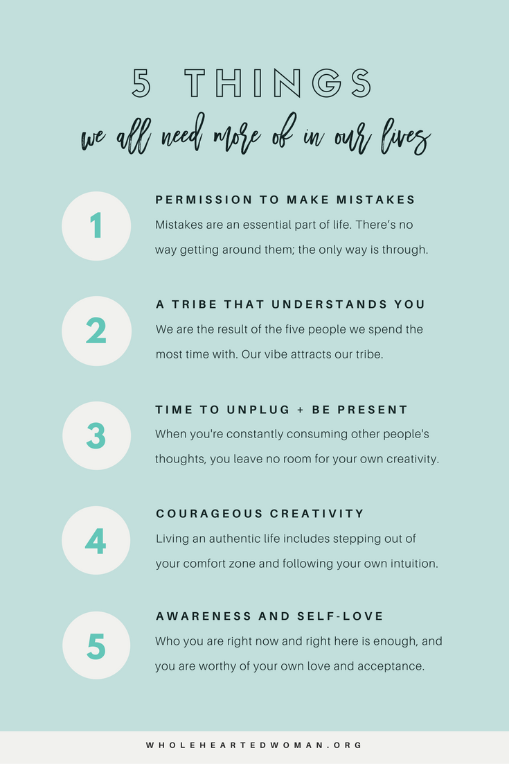 5 Things We All Need More Of To Help Us Grow | Life Advice | Personal Development | Mindset & Mindfulness