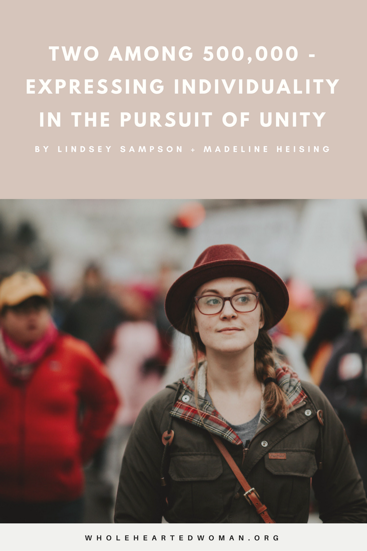 Two Among 500,000 - Expressing Individuality In The Pursuit Of Unity | Feminism | Community | Female Empowerment | Women's Rights