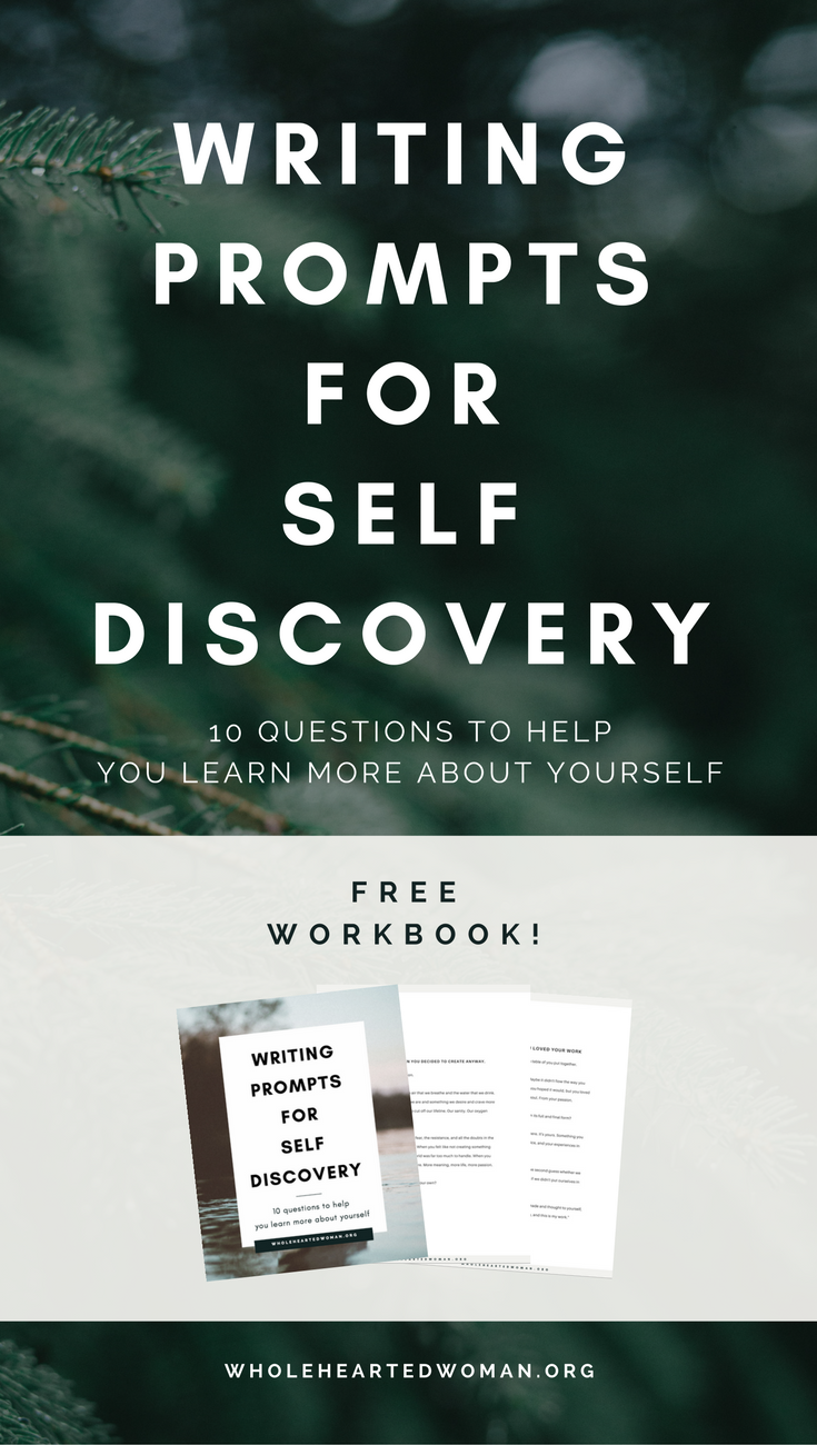 Free Writing Prompts For Self Discovery | Free Resource | Journaling Ideas | Finding Yourself | Personal Development