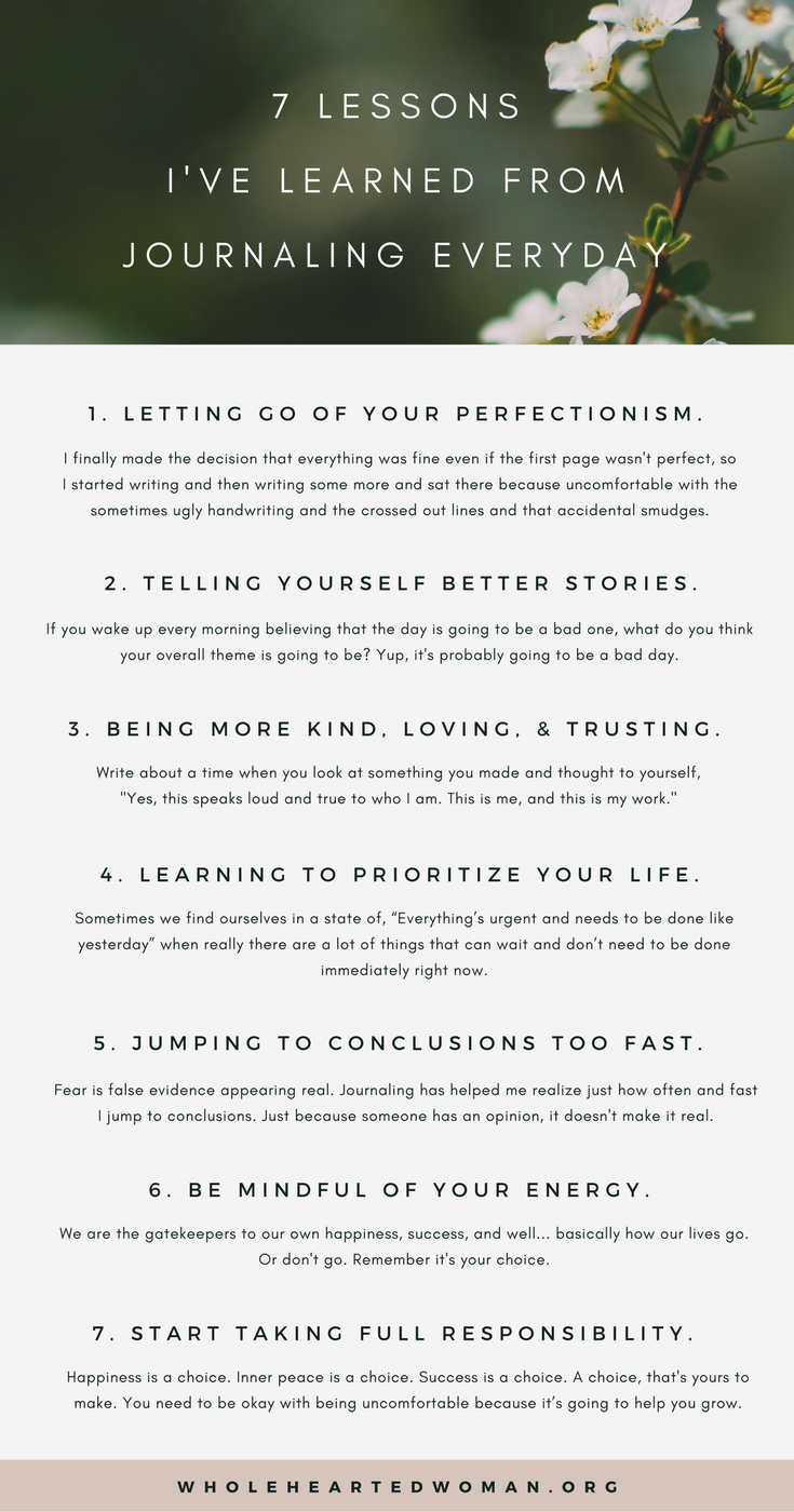 7 Lessons I've Learned From Journaling Everyday |Personal Development & Growth | Journaling Ideas | Finding Yourself | Why You Should Journal | How Journaling Will Help You Grow | Reasons To Journal