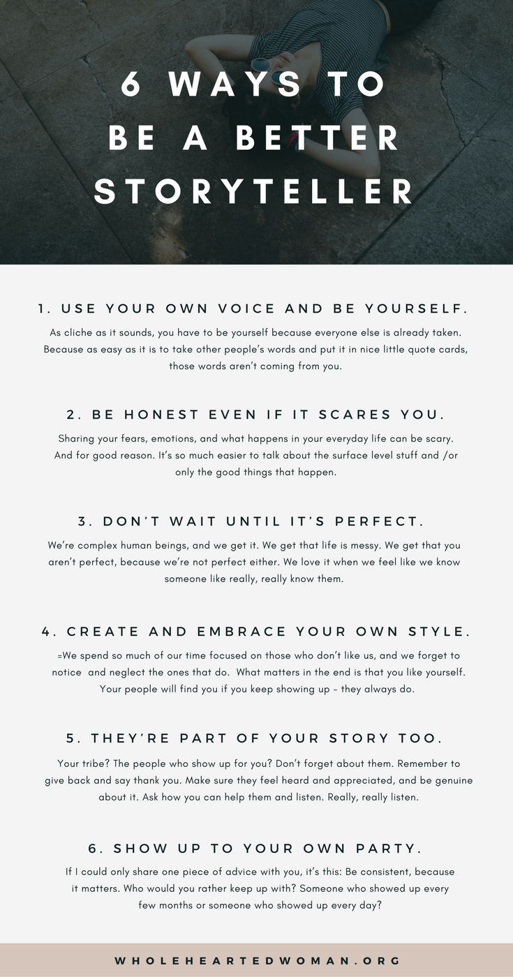 6 Ways To Be A Better Storyteller — molly ho studio
