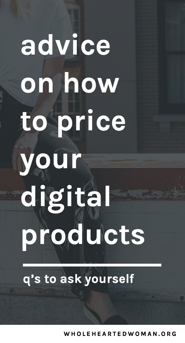 how i decided to price my digital products | advice on pricing your online products | monetizing your blog and business | tips on creating digital products | graphic design templates for bloggers and creative entrepreneurs | resources and tools for bloggers | business card design templates | customizable instagram story templates |pricing models for digital products | selling digital downloads