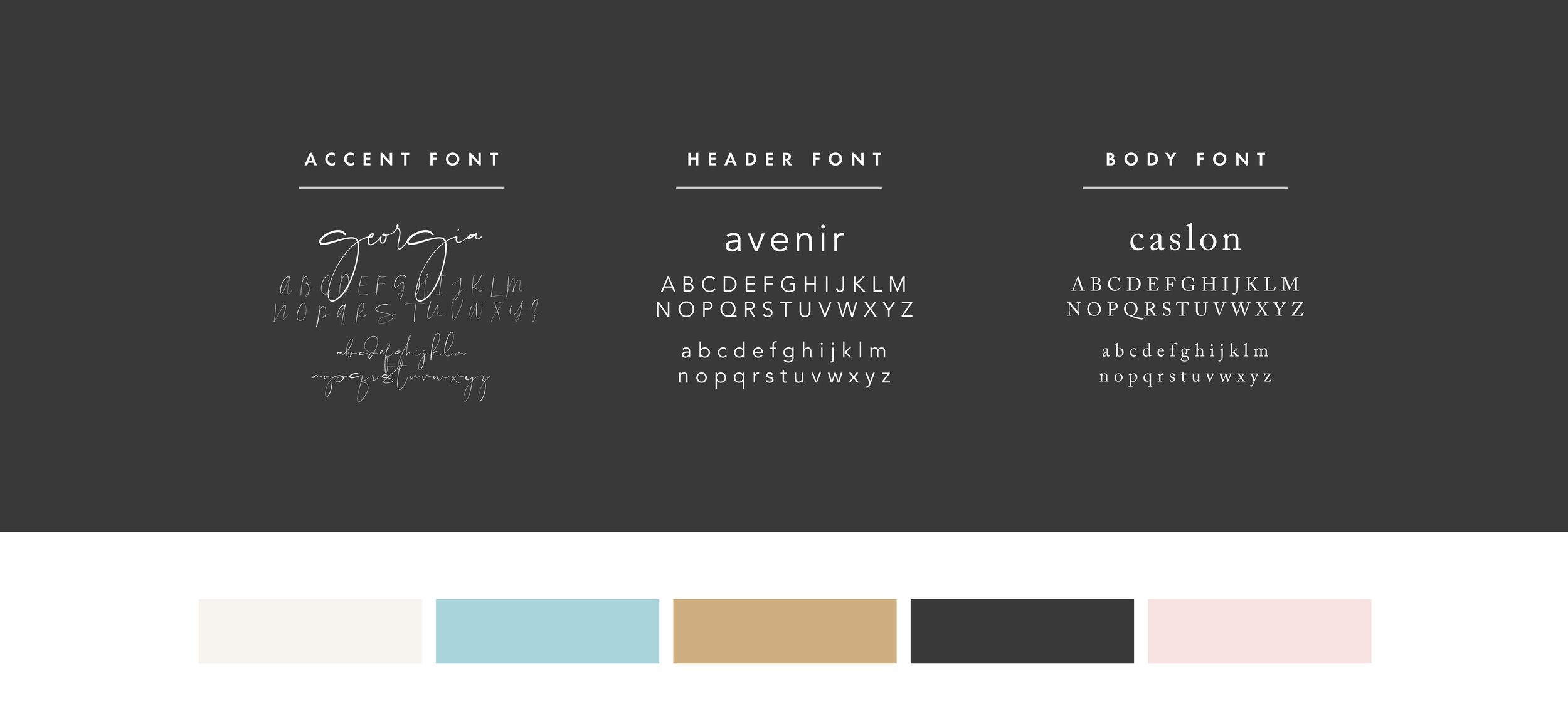 Font & Color Palette for Kirsty Su Photography
