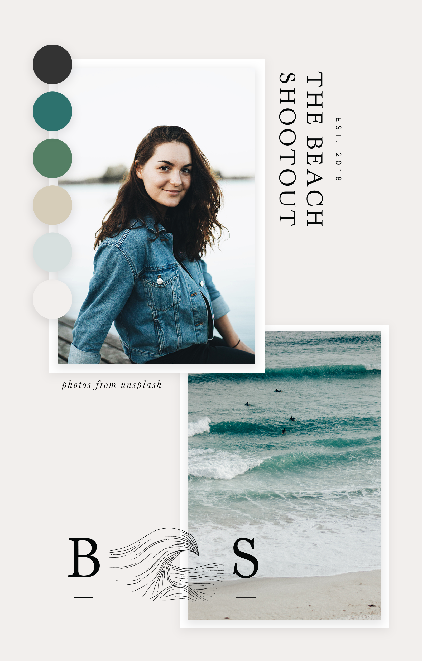 The Beach Shootout | The Shootout Society | Branding and Graphic Design for Female Entrepreneurs | Brand Identity Design | Branding Color Palette | Brand Design Inspiration | Brand Board | Color Palette Inspiration | Minimalist Brand Design | Branding Board | Logo Design Inspiration | Visual Identity | Brand Guidelines | Molly Ho Studio