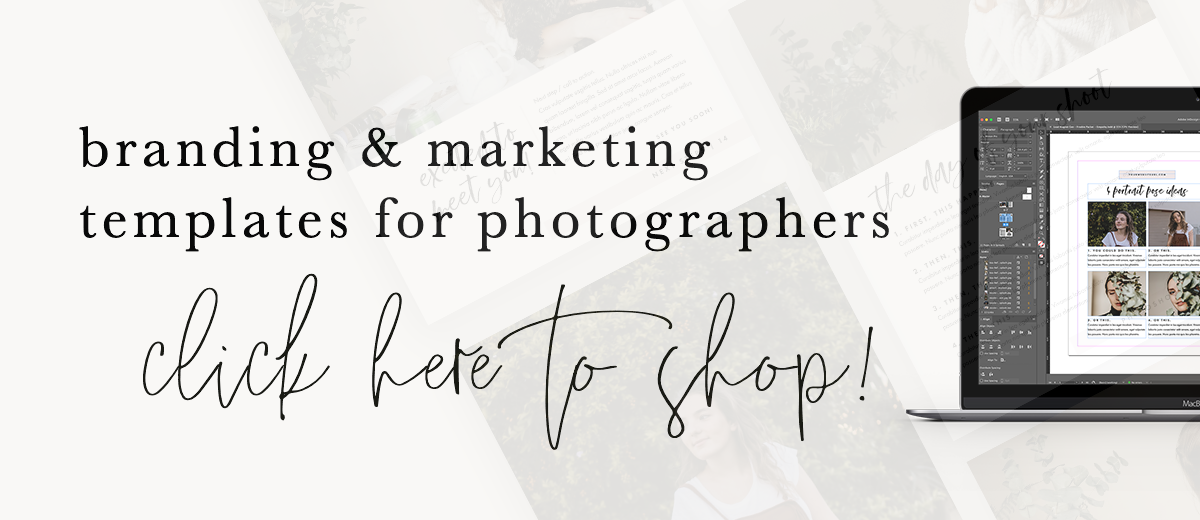 Click here to shop the branding and marketing photography templates!