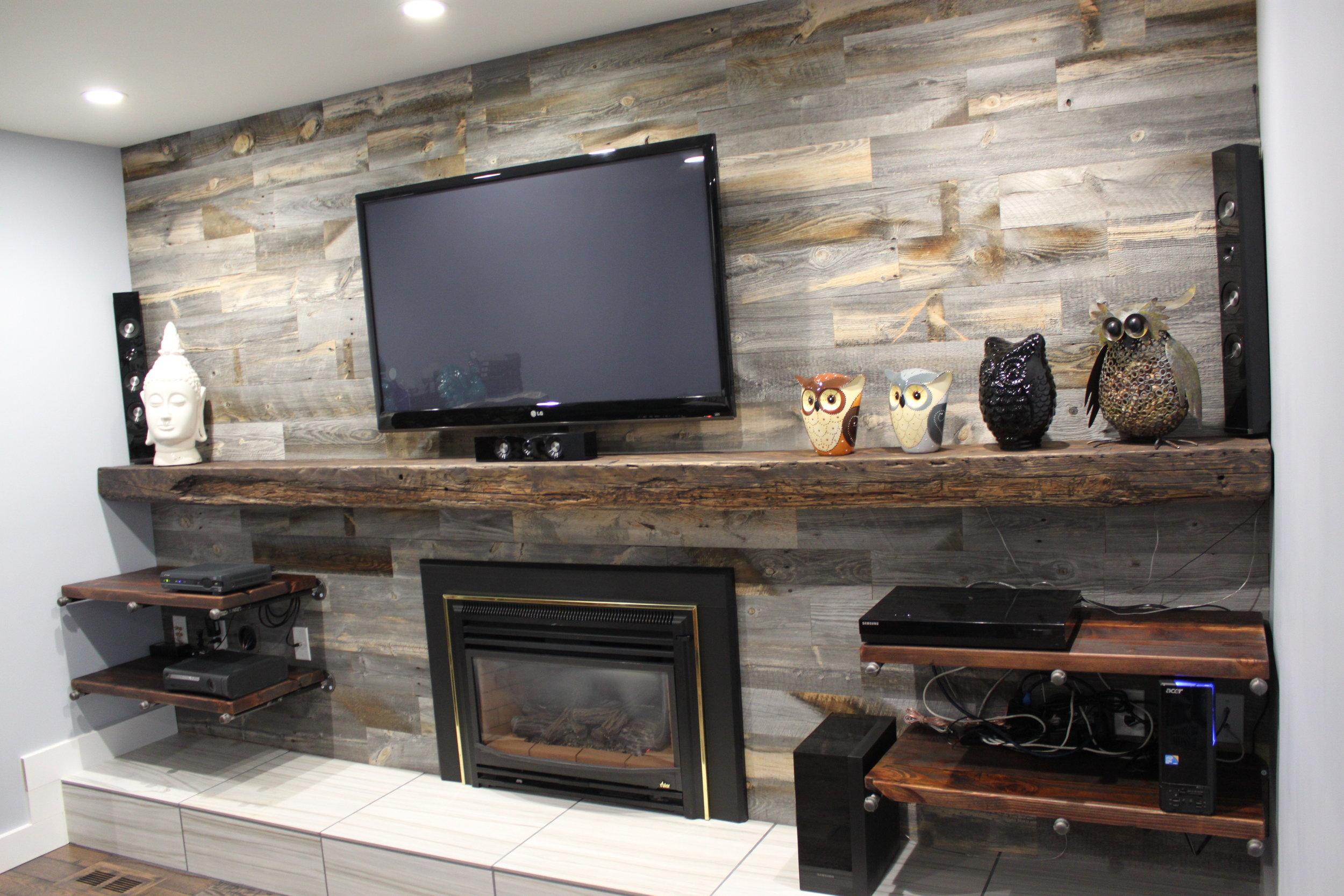 Ebony Fir Timber Mantle with Ebony Fir Shelves.JPG