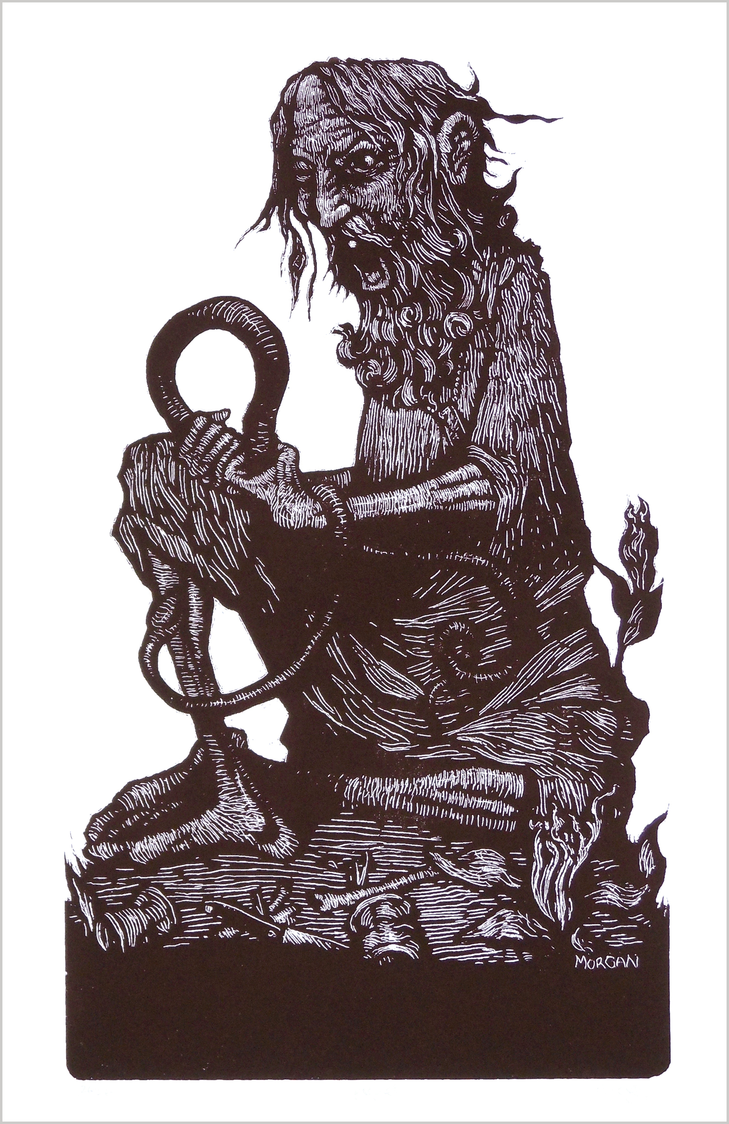 Prophet screenprint Throwing Bones snake