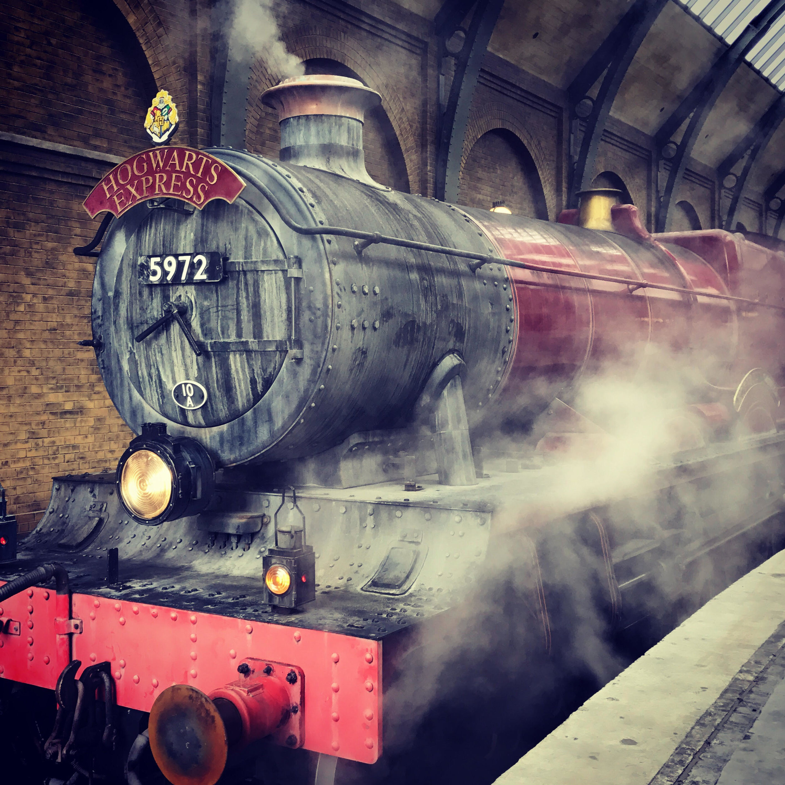 The Hogwarts Express transports park guests from Diagon Alley to Hogwarts and back again.