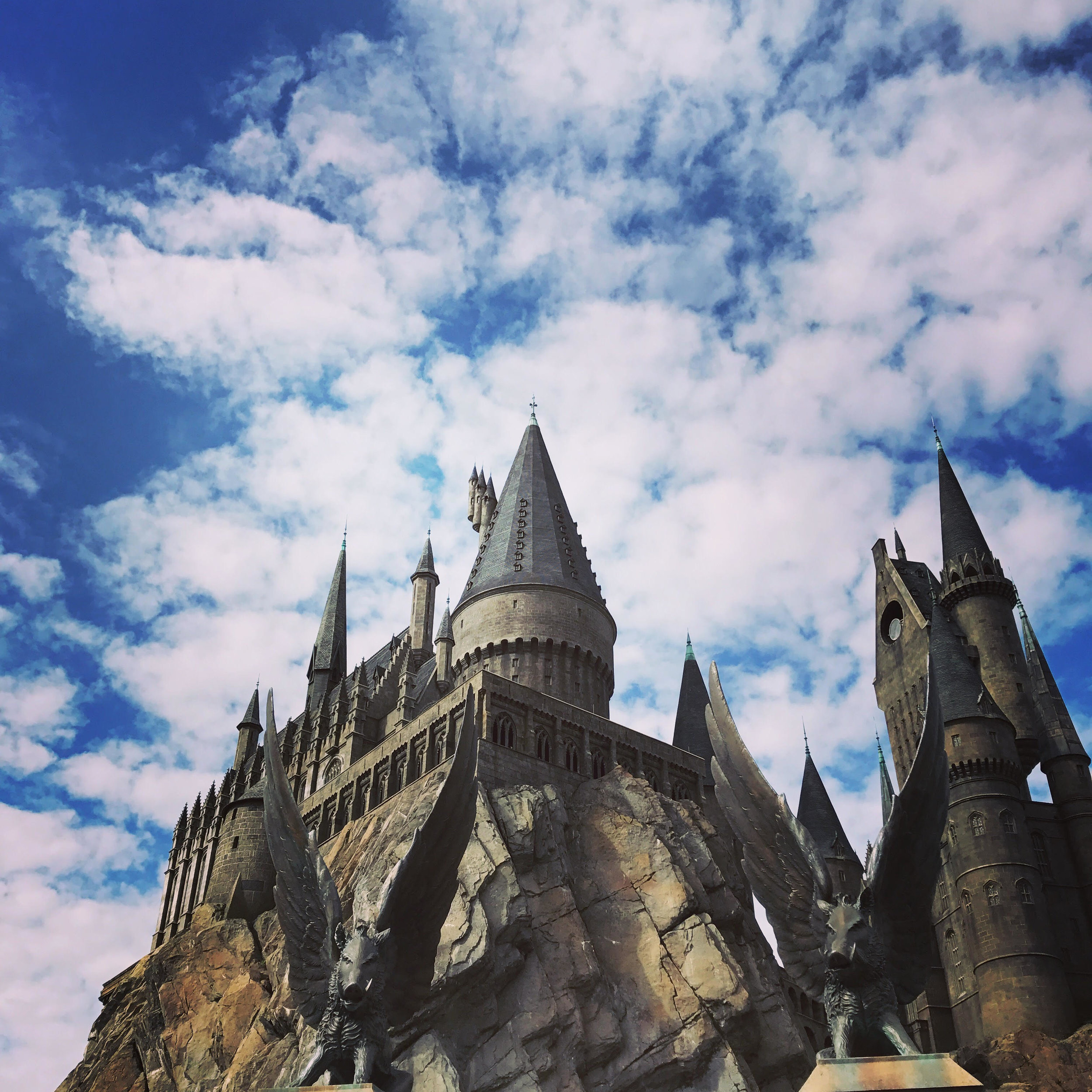 Hogwarts is the setting for Harry Potter and the Forbidden Journey, one of the most popular rides in the park.