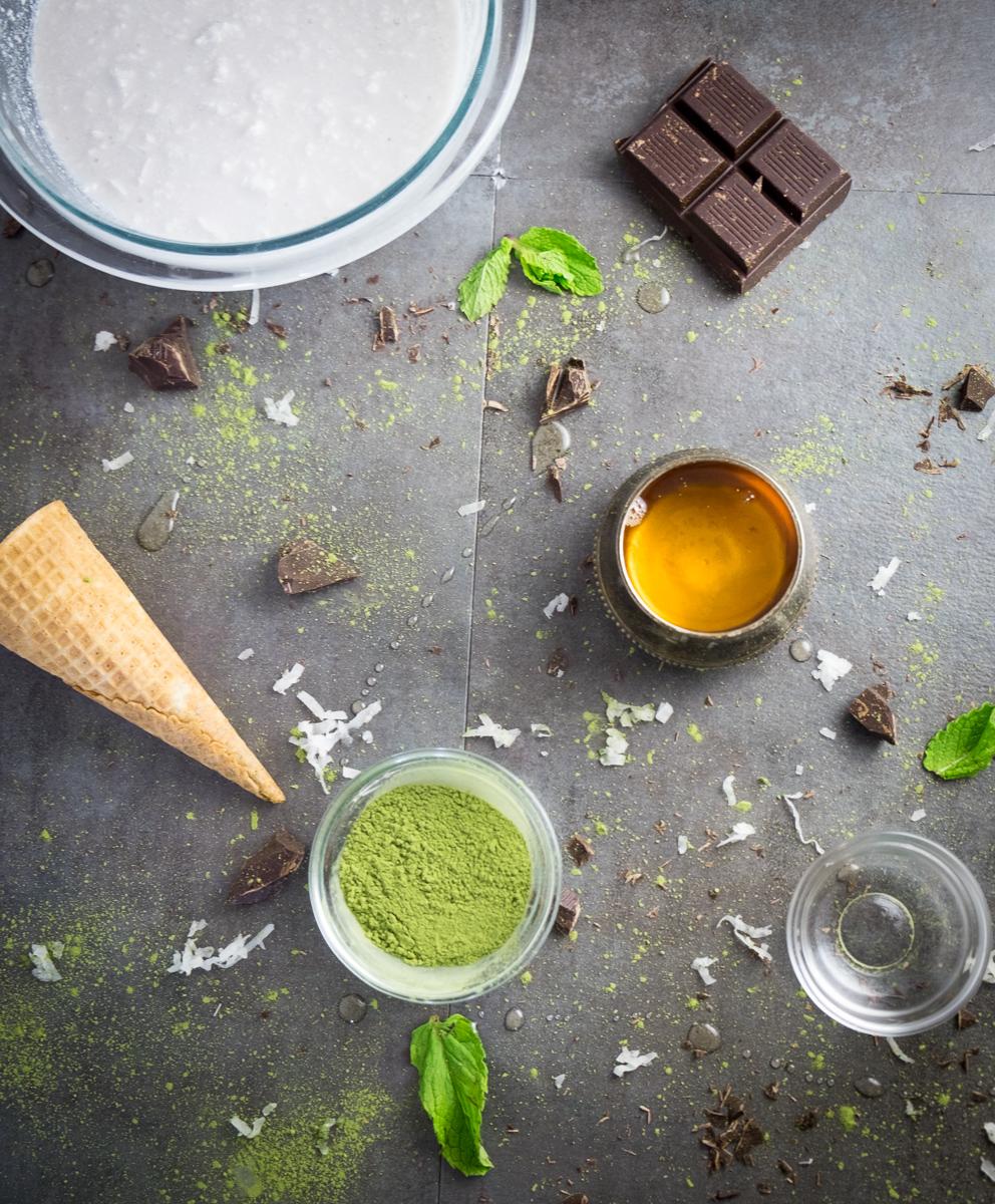 matcha-mint-coconut-chocolate-chip-ice-cream-cone