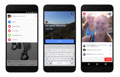 Facebook live on android