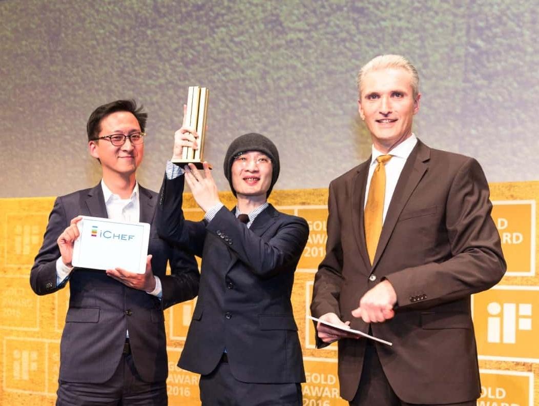 iCHEF POS點餐系統 行銷長程開佑與首席設計師榮獲2016德國iF設計金獎