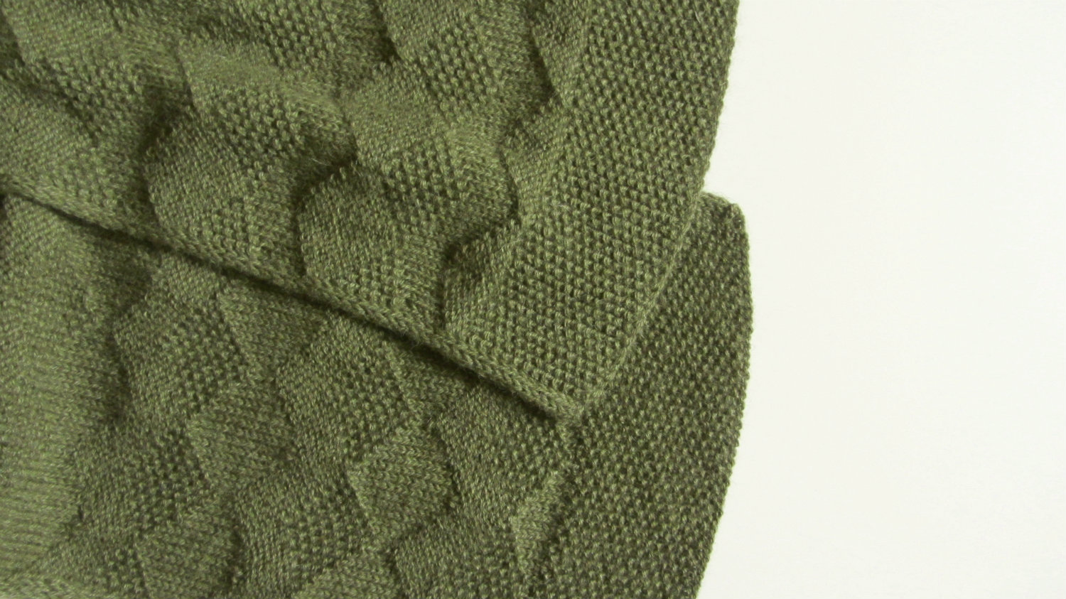 I designed textural, geometric stitch that looks beautiful on both sides.