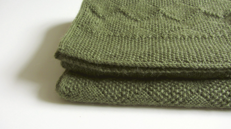 Geometric Scarf Knitting Pattern