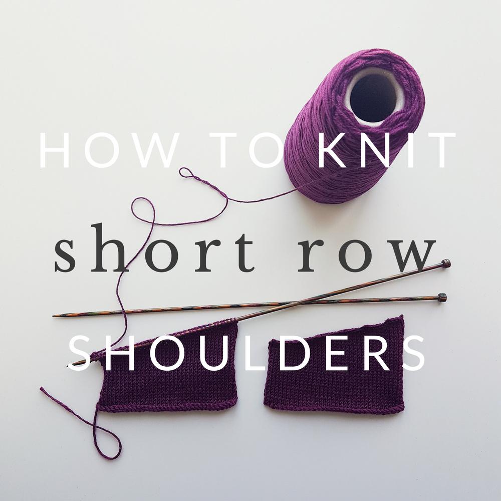 Short Row Shoulders