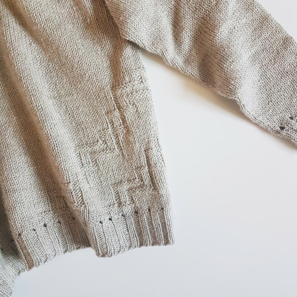 Split Stone Sweater Pattern Side Detailing