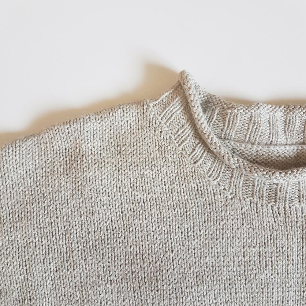 Split Stone Sweater Pattern Neckline