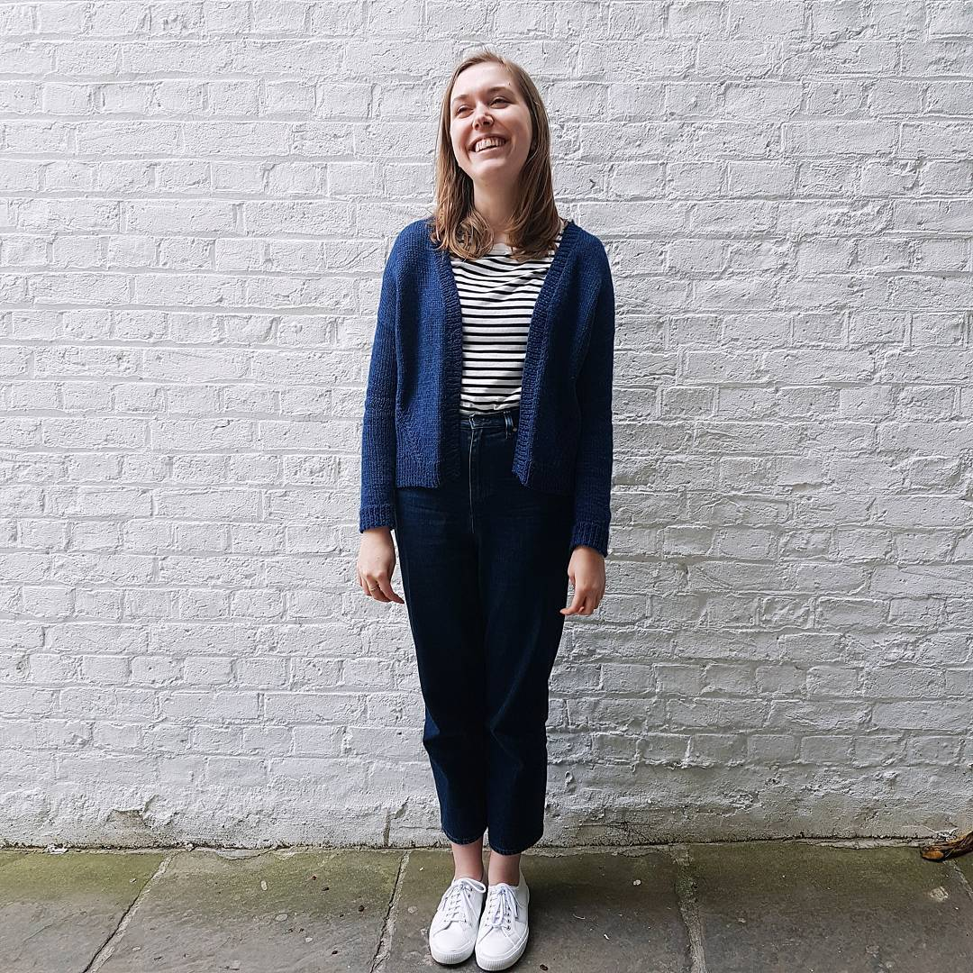 My Truss Cardigan is one of my most well-worn handknits. It's a combination of the colour and silhouette that makes it so wearable!