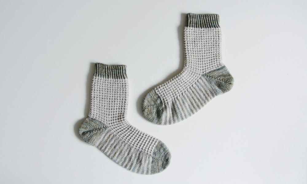 Waffle Knit Sock Pattern