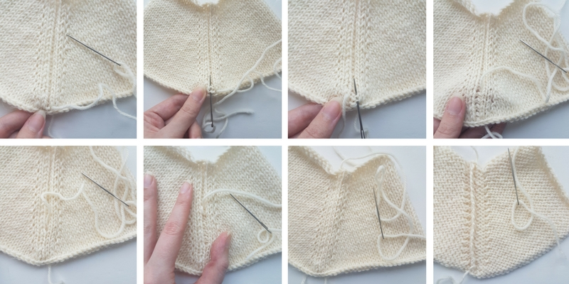 How to add a basting stitch to a seamless sweater